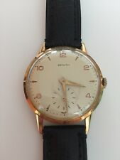 Vintage 18K Gold Zenith Watch from the 1950s