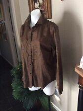 Lauren Ralph Lauren Womens Button Down Paisley Cotton Blouse, Size Large