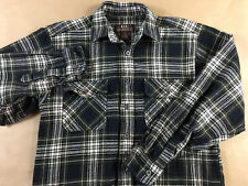 MOOSE CREEK Mens S Thick Lumber Jack Flannel 2 Flap Pocket Button Front Size S
