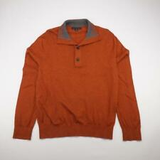 BANANA REPUBLIC Cotton 3 Button Polo Sweater Shirt Orange Mens MEDIUM