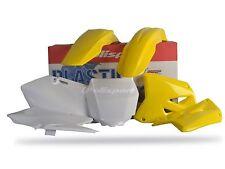SUZUKI Plastic Kit RM 125 / RM 250 2001 - 2008 OEM Yellow White Motocross 90095