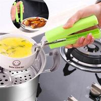 EG_ Stainless Steel Anti-Hot Pot Pan Hot Dish Bowl Gripper Clip Kitchen Tool Lit