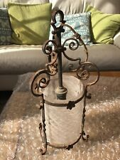 Antique Hanging Light Fitting - wrought iron