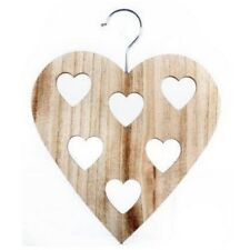 NEW Natural Heart Scarf Hanger Wooden Tie Belt