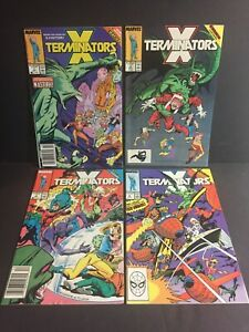 X-Terminators #1 #2 #3 #4 VF 1988 Full Run/Set Lot of 4 Limited X-Men