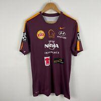 Brisbane Broncos Training Jersey Mens Large Slim Fit Nike Short Sleeve Australia