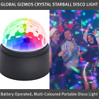 Crystal Starball Disco Light / Portable Disco Light / Battery Operated