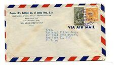 Advertising Envelope CANADA DRY BOTTLING San Jose Costa Rica 1950 soda