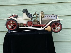Vintage Mamod SA1 Live Steam Powered Engine Roadster Tin Model Car