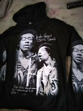 Jimi Hendrix Purple Haze Jesus saves hooded sweatshirt black hoodie sz L