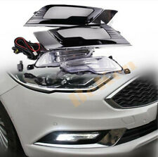 for 2017-2018 Ford Fusion Front fog lamp Kit LED w/Bulb Switch Cable Bezel