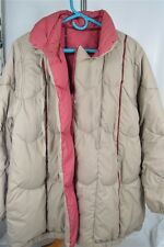 Foxland Tan Wine Vintage Down Feather Filled  Large ( No Size) Women's Coat