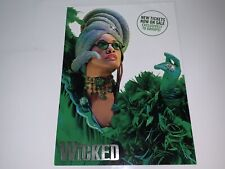 Wicked The Musical London 2012/13 Promo A4 Card