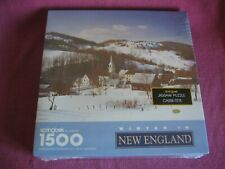 Sealed Hallmark Springbok 1500 Piece Jigsaw Puzzle - Winter in New England, USA