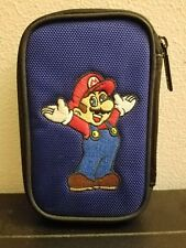 Nintendo 3DS, DSi, DS Lite, and GBA Zippered Blue Super Mario Case Wrist Strap