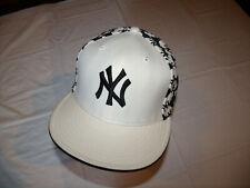 New York Yankees White Hat w/ Black Trim & State Print New Era 59Fifty 7 3/4