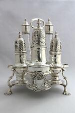 George II Silver  Warwick Cruet Set - London 1743- Samuel Wood - 45oz