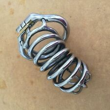 """S062 Handmade Stainless Steel Male Chastity Cage Device- Large 2.00"""" Ring"""