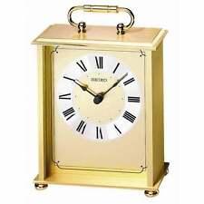 *BRAND NEW* Seiko Gold-Tone Alarm Clock Watch QHG102GL