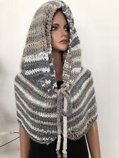 Hand Knits 2 Love Hoodie Caplet Hat Shawl Poncho Designer Fashion Tassels Soft