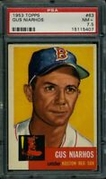 1953 TOPPS #63 GUS NIARHOS PSA 7.5 RED SOX *DS2302