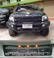 FOR FORD RANGER RAPTOR T6 2012 - 2014 FRONT MATT BLACK GRILLE GRILL LIT LED BAR