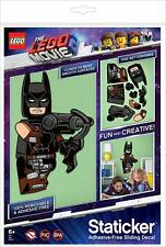 LEGO The Movie 2 Batman Staticker Adhesive Free Sliding Decal Removable