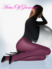 Ultima Elegant Luxury Opaque Tights 50 Denier-Purple, Wine and Hot Pink FREEPOST