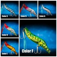 Flashing Shrimp Fishing Lures Prawn Baits Squid Jigs Hooks Tackle--