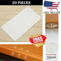 50 pcs Cabinet Doors Bumpers pad damper Kitchen Hinges Dot Hole Cover Clear 10mm