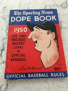 1950 The Sporting News Baseball DOPE book - Ted Williams on Cover