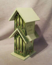 Wooden Butterfly Inn, Welcome, Green, Butterfly, Flowers Bunny Design