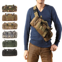 Mens Military Tactical Waist Bag Shoulder Pack Molle Camping Hiking Travel Pouch