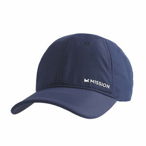 Mission 109356 Blue/White One Size Men's Polyester HydroActive Cooling Hat