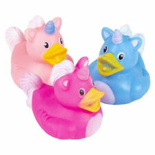 MINI UNICORN RUBBER DUCK DUCKS DUCKIE SET OF 4 RAINBOW MANE TAIL PARTY FAVORS