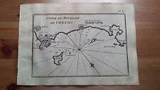 """1817 Allezard: Portolano Baia di Corfù I.Vido Grecia """"Carte du M. de Corfou"""""""
