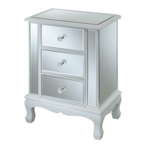 Convenience Concepts GC Vineyard 3 Drawer End Table, White - 413359W