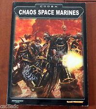 Warhammer 40K Codex Chaos Space Marines 2002 Games Workshop
