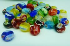 60 pce Abacus Millefiori Glass Spacer Beads 8mm x 5mm Jewellery Making Craft