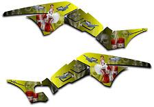 HONDA TRX250R GRAPHICS DECAL KIT AMERICAN HERO TRX 250 R STICKER PINUP YELLOW