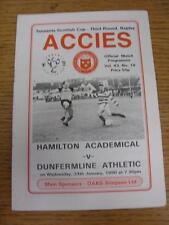 24/01/1990 Hamilton Academical v Dunfermline Athletic [Scottish Cup] . Item in v