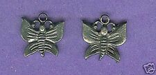 20 wholesale lead free pewter butterfly charms 1051