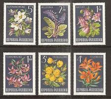 AUSTRIA # 764-9 MNH ALPINE FLOWERS FLORA PLANTS