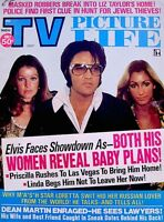Elvis Presley Magazine 1974 TV Picture Life Cher Princess Grace Kelly Photo VTG