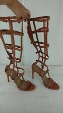 BCBGMaxazria NEW Womans Pike Gladiator Cage Heel Sandals Camel Size 6 6M NIB
