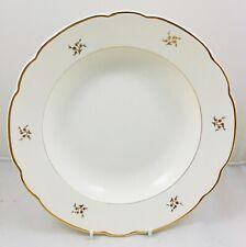 Villeroy & Boch vintage cream &gold thistle large rimmed serving pasta bowl 28cm