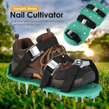 1pair Grass Spiked Gardening Walking Revitalizing Lawn Aerator Sandals Shoe Tool