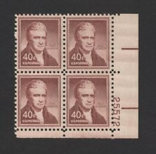 US - 1955 - SCOTT 1050 PLATE BLK 4, MNH. JOHN MARSHALL