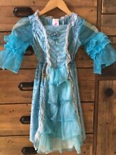 Fantasy Play Clothes Turquoise Princess Dress Up Costume Dress Girls 3+