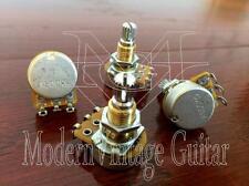 "4 - Modern Vintage Guitar A500K Potentiometer Alpha Pot 16mm 5/16"" Mount  BRASS"